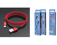 Кабель Type-C Borofone длина 1м, USB2.0, 2А, коробка, красный (BX20 Enjoy)