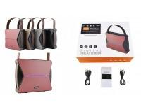 Акустическая система mini MP3 - TG-023 10Вт Bluetooth, MP3, FM, microSD, microUSB, AUX-3.5мм встроенный аккумулятор 3.7V/2200 мА размер 20 х 6 х 17 см, цветная
