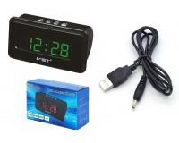 Часы сетевые VST 728-4 яркие зелёные цифры, без блока питания