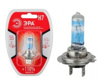 Автолампа Эра H7 12V 55W +110% тип цоколя: Px26d (лампа головного света, противотуманные огни), блистер
