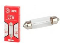 Автолампа Эра C5W 12V 5W тип цоколя: SV8.5 (лампа для освещения салона, номерного знака), по 10 штук, коробка