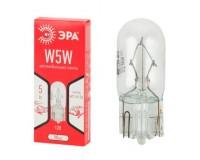 Автолампа Эра W5W 12V 5W тип цоколя: W2, 1x9.5d (лампа габаритных огней, повт. поворота, подсветка номерного знака), по 10 штук, коробка