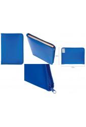 Папка - для тетрадей Пифагор 228218 Формат: А4 33х23 см пластик, молния вокруг, синяя