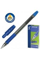 Ручка шариковая Pilot BPS-GP-M толщина линии 0.4 мм корпус прозрачный, чернила на масляной основе, резиновый держатель цвет чернил: синий (141866)