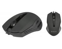 Мышь Defender Datum MM-351 USB Optica (800-1600dpi) черная, 3 кнопки+колесо-кнопка, покрытие Soft Rubber Skin блистер