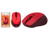 Мышь беспроводная Defender Genesis MB-795 USB Optical (1200/1600/2400dpi) красный, 3 кнопки+колесо-кнопка интеллектуальная система Energy Master, сверхстойкое прорезиненное покрытие «Soft Touch», блистер