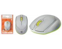 Мышь беспроводная Defender Genesis MB-865 USB Optical (1600dpi) бело-зеленый, 3 кнопки+колесо-кнопка интеллектуальная система Energy Master, блистер
