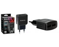 Зарядное устройство Defender UPA-22 3100 mA 2хUSB, выходной ток: USB1-1А, USB2-2, 1А, черное, коробка