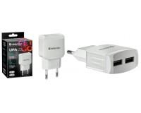 Зарядное устройство Defender UPA-22 3100 mA 2хUSB, выходной ток: USB1-1А, USB2-2, 1А, белое, коробка