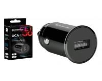 Автомобильное зарядное устройство Defender UCA-12 12/24В 1хUSB, Выходной ток: USB1-1A, коробка, черное