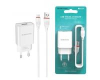 Зарядное устройство Borofone BA20A Sharp 2100 mA USB 1хUSB, выходной ток: USB-2, 1А, белый, кабель MicroUSB, блистер