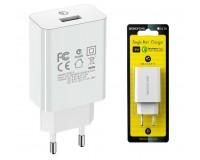 Зарядное устройство Borofone BA21A Long journey 3000 mA USB 1хUSB, выходной ток: USB-3А, белый, QC 3.0, блистер