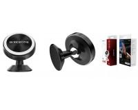 Держатель Borofone BH5 Platinum для смартфона/навигатора, на панель, магнит, 360°, черный