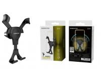 Держатель Borofone BH9 Gravity для смартфона/навигатора, до 6'' (60-90 мм), на решетку вентиляции, черный