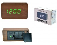 Часы Орбита OT-CLT03 (1295) будильник, дата, температура, кабель USB питания