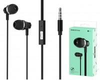 Наушники с микрофоном Borofone BM21 Graceful вкладыши, кабель 1, 2м, коробка, черные