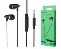 Наушники с микрофоном Borofone BM25 Sound edge вкладыши, кабель 1, 2м, коробка, черные