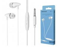 Наушники с микрофоном Borofone BM25 Sound edge вкладыши, кабель 1, 2м, коробка, белый
