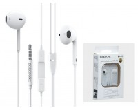 Наушники с микрофоном Borofone BM30 Original series вкладыши, кабель 1, 2м, коробка, белый