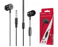 Наушники с микрофоном Borofone BM31 Mysterious вкладыши, кабель 1, 2м, коробка, черный