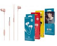 Наушники с микрофоном Borofone BM34 Intelligent вкладыши, кабель 1, 2м, коробка, розовый