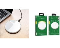 Беспроводное зарядное устройство Borofone BQ3 Preference входной ток: 5В/2A выходной ток: 5В/2A максимальная мощность 10Вт., серебро, коробка