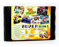 Картридж 16-bit 8in1 AC8002(ToyStory+LKing+Donald+Pinoc+TSpin+...) (рус) bulk