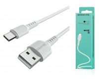 Кабель Type-C Borofone длина 1м, USB2.0, 2, 0А, коробка, белый (BX16 Easy)