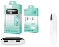 Портативное зарядное устройство HOCO B29 10000 мАч 1USB выход 5В/2А, 2USB выход 5В/1А, белый