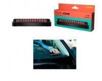 """Автовизитка Perfeo PF-A4867 """"PARKING CARD"""", корпус - пластик, цифры - металлизированная и промагниченная резина. размеры: 150 х 43 х 28 мм, черный"""