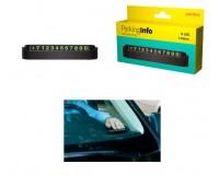 """Автовизитка Perfeo PF-A4868 """"PARKING INFO"""", корпус - пластик, цифры - металлизированная и промагниченная резина. размеры: 130 х 35 х 27 мм, черный"""