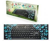 Клавиатура SmartBuy SBK-223U-B-FC Butterflies USB Black 104 клавиши, с рисунком