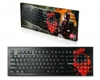 Клавиатура SmartBuy SBK-223U-S-FC Soldier USB Black 104 клавиши, с рисунком