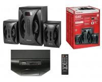 Акустические системы 2.1 Defender G40 16+2х12Вт Bluetooth, SD/USB, FM-тюнер, встроенный MP3-плеер, дисплей, корпус МДФ, пульт черный (65517)