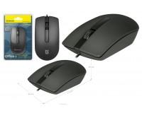 Мышь Defender Office MB-210 USB Optica (800dpi) черная, 2 кнопки+колесо-кнопка, кабель 1.35м, рифленное колесо прокрутки блистер