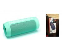 Акустическая система mini MP3 - CHARGE2 6Вт Bluetooth, MP3, FM, microSD, USB, microUSB, AUX 3.5mm, встроенный аккумулятор 3.7V/1200mA, микрофон, с функцией PowerBank, размер 18.5 х 7 см, бирюзовый