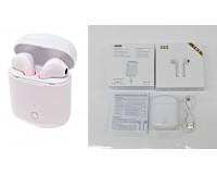 Наушники беспроводные - i8S вкладыши, Bluetooth, беспроводные, пенал для зарядки, аккумулятор 50 мАч белый