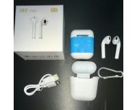Наушники беспроводные - i9S-TWS вкладыши, Bluetooth, беспроводные, пенал для зарядки, силиконовый чехол, аккумулятор 40 мАч белый
