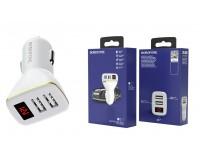 Автомобильное зарядное устройство Borofone BZ11 Speed map 12/24В 2хUSB, Выходной ток: USB1-2, 1A, USB2-2, 1A, общий выходной ток 2, 1А LED дисплей с отображение бортового напряжения автомобиля и потребления тока USB, коробка белое