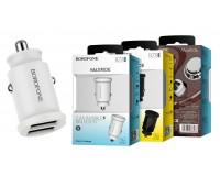Автомобильное зарядное устройство Borofone BZ8 MaxRide 12/24В 2хUSB, Выходной ток: USB1-2, 4A, USB2-2, 4A, максимальный 2, 4 А коробка белое