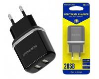 Зарядное устройство Borofone BA25A Outstanding 2400 mA USB 2хUSB, 5 В, выходной ток: USB1-2, 4А, USB2-2, 4A, общий ток 2, 4А черный, коробка