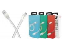 Кабель microUSB Borofone длина 1, 2м, USB2.0, 2, 4А, коробка, серебро (BU2 ZincJet)