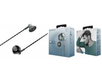 Наушники с микрофоном Borofone BM14 Skymelody вкладыши, кабель 1, 2м, регулятор громкости, коробка, серые