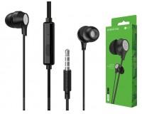Наушники с микрофоном Borofone BM28 Tender sound вкладыши, кабель 1, 2м, коробка, черные