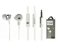 Наушники с микрофоном Celebrat D1 внутриканальные, кабель 1, 2м, кнопка ответа, белые коробка