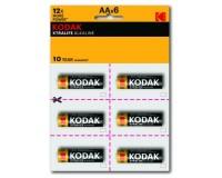 Батарейка Kodak LR6 BL 6x2 XTRALIFE perforated