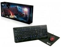Проводной набор SmartBuy SBC-715714G-K USB Black игровой, клавиатура+мышь+коврик