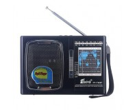 Приемник Fepe FP-1768BT аккумуляторно-сетевой, 220V шнур в комплекте, USB, microSD, bluetooth, питание:от аккумулятора BL-5C (в комплекте) / 2*R20 - в комплект не входят, размер: 16х11х4см