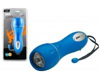 Фонарь JaZZway R1-L5-2D 5 светодиодов 2хR20 водонепроницаемый фонарь, ударопрочный корпус из термопластиковой резины, синий