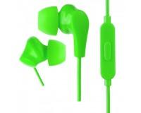 Наушники с микрофоном Perfeo ALPHA PF-A4934 внутриканальные, кабель 1, 2м , сменные насадки, коробка, зеленые